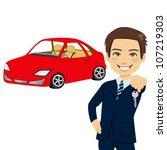 young automobile salesman... | Shutterstock . vector #107219303