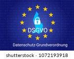 dsgvo   german datenschutz... | Shutterstock .eps vector #1072193918
