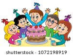 kids party topic image 1  ... | Shutterstock .eps vector #1072198919