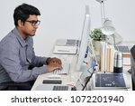 indian software developer... | Shutterstock . vector #1072201940