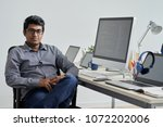 confident indian it company... | Shutterstock . vector #1072202006
