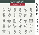 flourecent icons set | Shutterstock .eps vector #1072203560