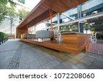 modern restaurant terrace in... | Shutterstock . vector #1072208060