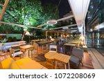 modern restaurant terrace in... | Shutterstock . vector #1072208069