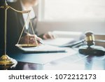 justice and law concept. legal... | Shutterstock . vector #1072212173
