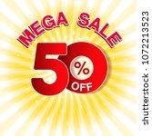 vector big sale banner. mega... | Shutterstock .eps vector #1072213523