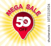 vector big sale banner. mega... | Shutterstock .eps vector #1072213526