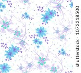 small floral seamless pattern... | Shutterstock .eps vector #1072218500