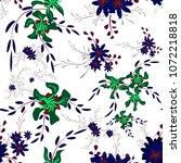 little floral seamless pattern... | Shutterstock .eps vector #1072218818