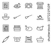 flat vector icon set   abacus... | Shutterstock .eps vector #1072219109