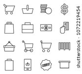 flat vector icon set   cart... | Shutterstock .eps vector #1072219454