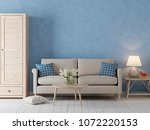 empty wall  for mockup in... | Shutterstock . vector #1072220153