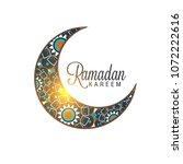 illustration of ramadan kareem... | Shutterstock .eps vector #1072222616