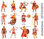 gladiator vector roman warrior...   Shutterstock .eps vector #1072222874