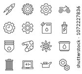 flat vector icon set   rocket...