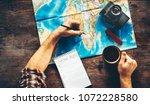 unrecognizable  man planning... | Shutterstock . vector #1072228580