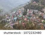 high angle view of villages in... | Shutterstock . vector #1072232480