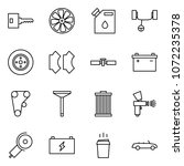 flat vector icon set   key... | Shutterstock .eps vector #1072235378