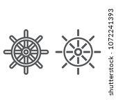 ship steering wheel line and...   Shutterstock .eps vector #1072241393