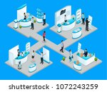 isometric expocenter concept... | Shutterstock .eps vector #1072243259