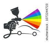 spray in the hand symbol for...   Shutterstock .eps vector #1072244723