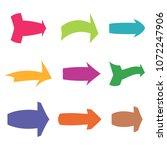 set of nine multicolored...   Shutterstock .eps vector #1072247906