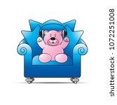 happy bear cartoon or mascot... | Shutterstock .eps vector #1072251008