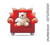 happy bear cartoon or mascot... | Shutterstock .eps vector #1072251014