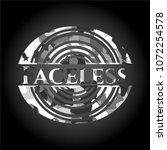 faceless on grey camo texture | Shutterstock .eps vector #1072254578
