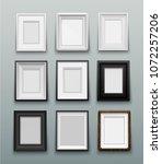 vertical set frame for photos... | Shutterstock .eps vector #1072257206