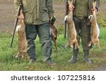 Hunters With Catch  Hare  Duck...