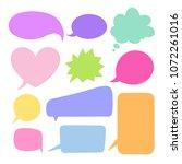 speech bubbles vector set. hand ... | Shutterstock .eps vector #1072261016