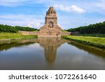 leipzig monument to the battle... | Shutterstock . vector #1072261640