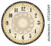 vintage clock face template... | Shutterstock .eps vector #107226569