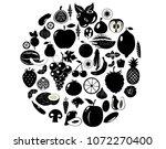 fruits and vegetables berries....   Shutterstock .eps vector #1072270400