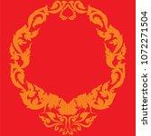 swirl doodle traditional thai...   Shutterstock .eps vector #1072271504