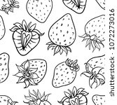 summer berries seamless pattern.... | Shutterstock .eps vector #1072273016