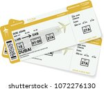 airline boarding pass tickets... | Shutterstock .eps vector #1072276130
