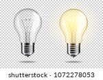 realistic transparent light... | Shutterstock .eps vector #1072278053