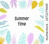 hello summer tropical banner... | Shutterstock .eps vector #1072279640