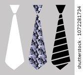 three vector image of necktie.... | Shutterstock .eps vector #1072281734