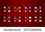 football tournament scheme.... | Shutterstock .eps vector #1072283006