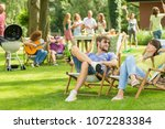 Young Friends Having Barbecue...