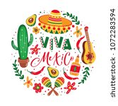 mexico vector design elements | Shutterstock .eps vector #1072283594
