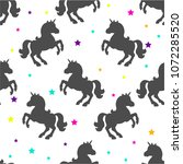 seamless pattern with black... | Shutterstock .eps vector #1072285520