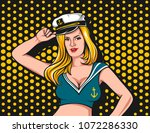 sailor beauty girl vector... | Shutterstock .eps vector #1072286330
