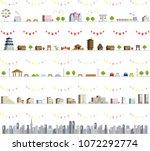 vector city illustration set | Shutterstock .eps vector #1072292774