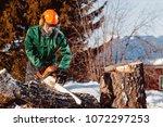 close up of lumberjack worker... | Shutterstock . vector #1072297253