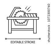 circular saw cutting wooden... | Shutterstock .eps vector #1072300760