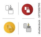 flip lighter icon. cigarette...   Shutterstock .eps vector #1072300790